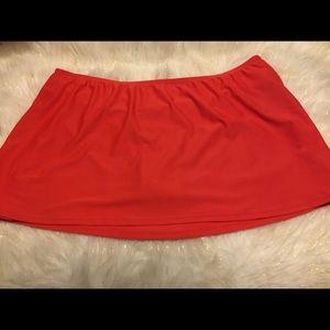 🆕 NWOT • Red Swim Skirt • Size 1x